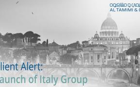 Al Tamimi & Company inaugura l'Italy Group