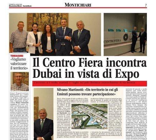 Il centro fiera incontra Dubai in vista di Expo 2020