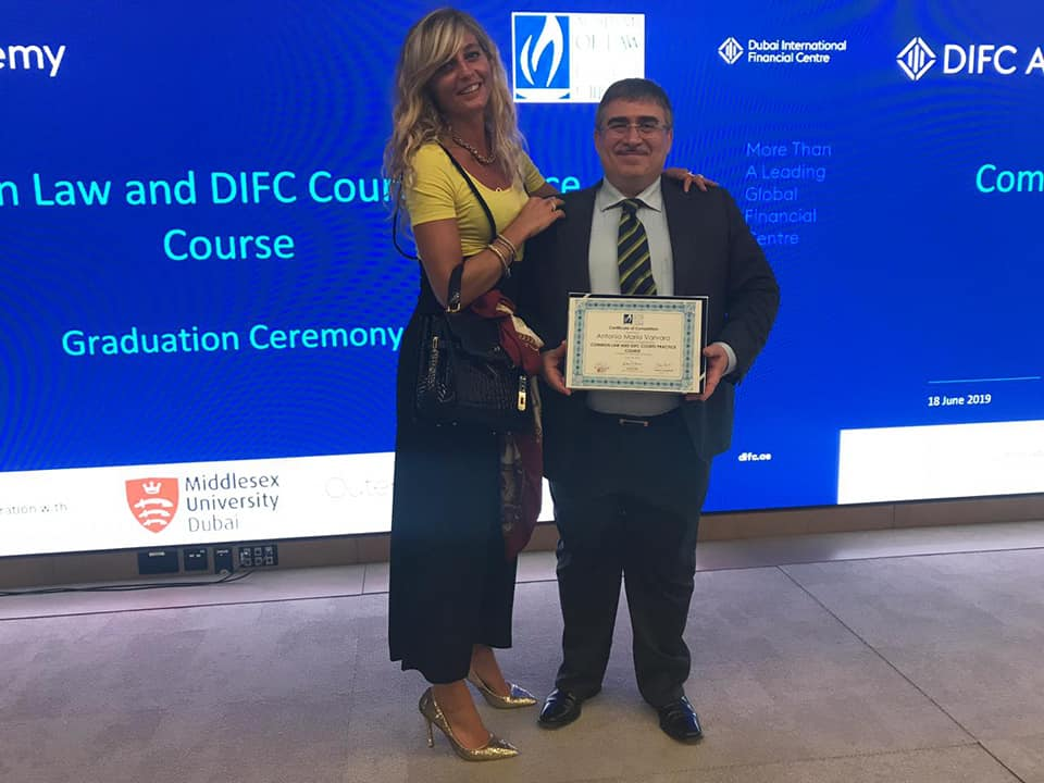 """Common Law and DIFC Courts Practice Course"" - Avv. Antonio Varvaro, Dubai 18 Giugno 2019"