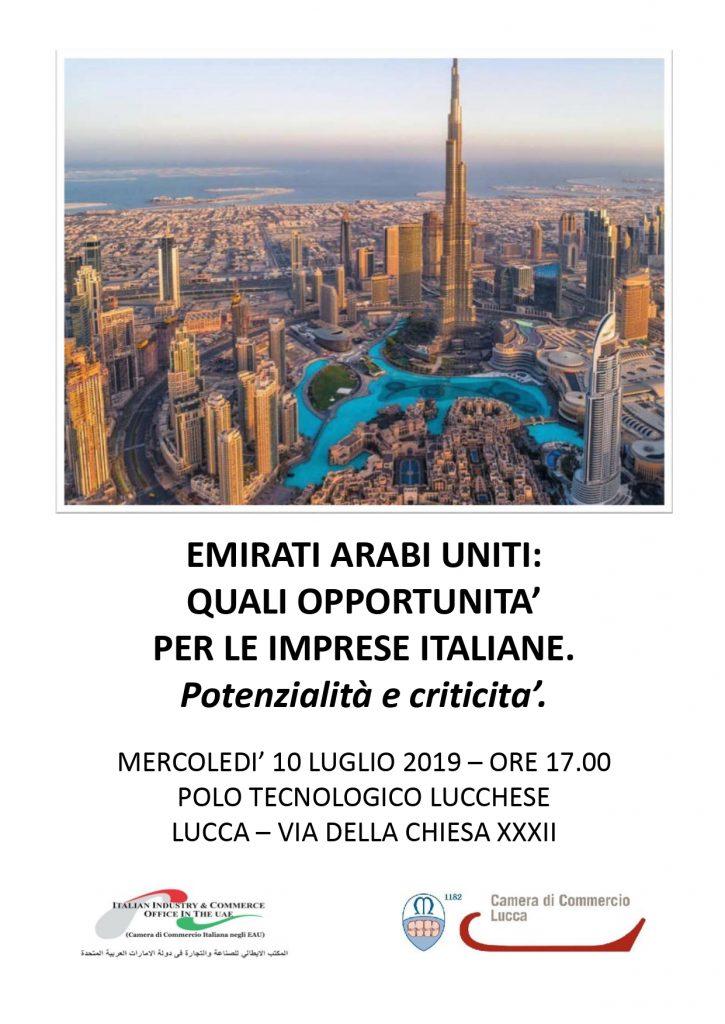 Emirati Arabi Uniti - Quali opportunità per le imprese italiane. Potenzialità e criticità