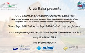 DIFC Courts, Accident Insurance for Employees and Expo 2020 Dubai
