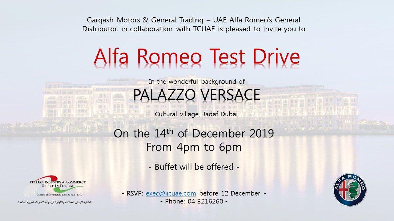 Alfa Romeo Test Drive Palazzo Versace